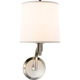 Visual Comfort BBL2023SS-S Barbara Barry Westport 1 Light 8 inch Soft Silver Decorative Wall Light
