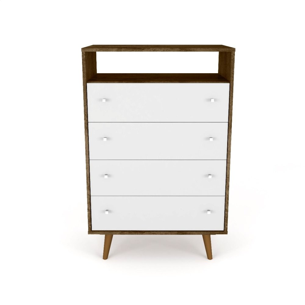 Liberty Dresser in Rustic Brown and White