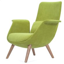 Fleur Fabric Accent Chair Natural Legs, Misty Moss