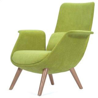 Fleur Fabric Accent Chair Natural Legs, Misty Moss
