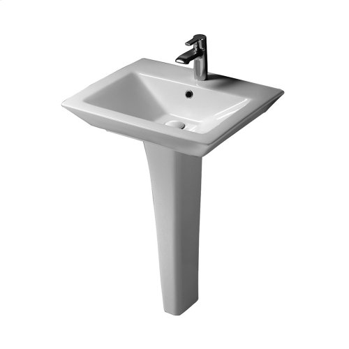 "Opulence Pedestal Lavatory - ""His"" - White"
