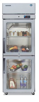 Refrigerator, Single Section Upright, Half Glass Door Product Image