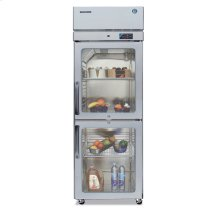 Refrigerator, Single Section Upright, Half Glass Door