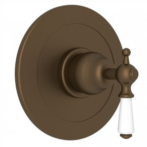 English Bronze Perrin & Rowe Edwardian Integrated Volume Control Pressure Balance Trim Without Diverter with Metal Lever