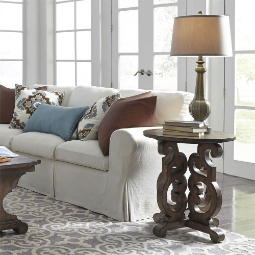 598OT1020  Round End Table
