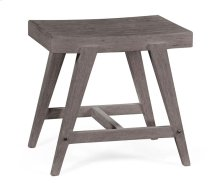 Small Rectangular Grey Stool