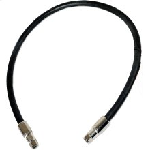 2 ft. Black RG11 Low Loss Coax (F Male to F Male)