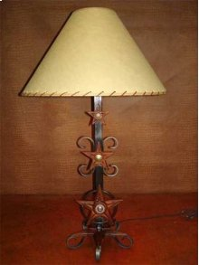 Three Star Metal Lamp