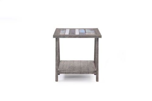 Emerald Home Laurel Lane Square End Table W/tile Top Gray T306-01