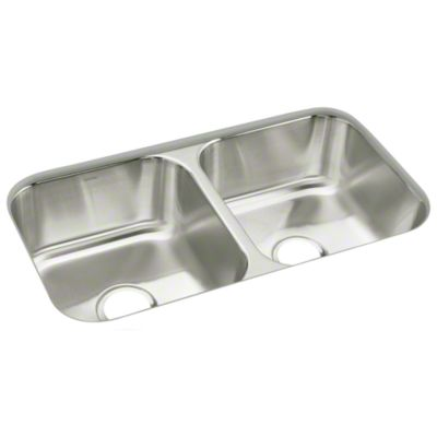 "McAllister® 32"" x 18"" x 8-1/4"" Double-basin Kitcen Sink"