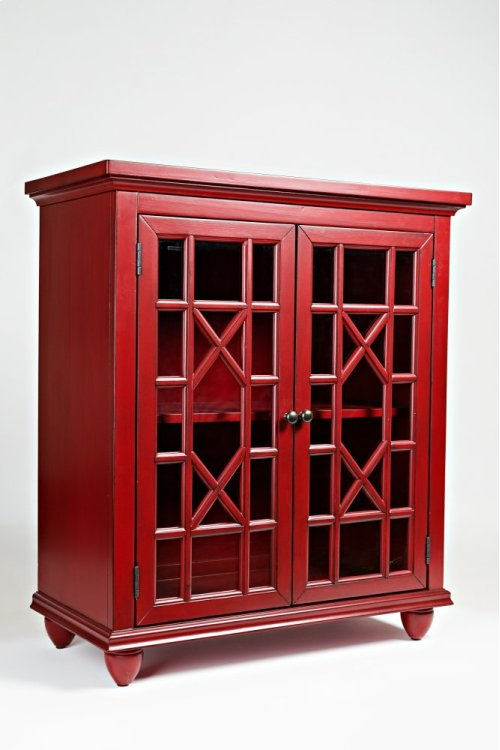 Brighton Park Accent Chest- Vintage Crimson