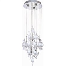Crystal Ceiling Lamp, C/crystals, Jc/g4 20wx9≤d Gu10 3wx3