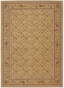 Ashton House As08 Gold Round Rug 5'6'' X 5'6''