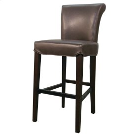 Bentley Leather Bar Stool, Mocha