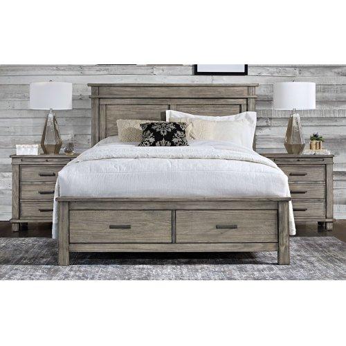 GLACIER POINT King Storage Bed