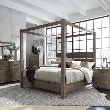 Queen Canopy Bed, Dresser & Mirror, Chest, NS