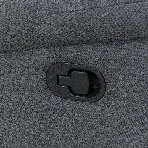 """Chenango Manual Motion Console Loveseat Light Gray 72'x37""""x42"""""""