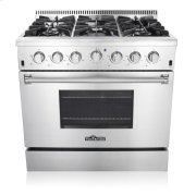 "36"" Pro-style 6 Stainless Steel Burner Gas Range Product Image"