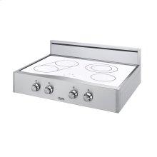 "Stainless Steel/White Glass 30"" Designer Electric Rangetop - DERT (30"" wide, four elements)"