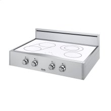 "Stainless Steel/White Glass 30"" Designer Electric Rangetop - DERT (30"" wide, four elements)"