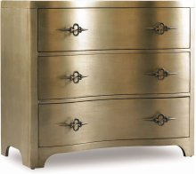 Sanctuary Three-Drawer Shaped Front Gold Chest
