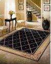 Ashton House As03 Blk Rectangle Rug 7'9'' X 10'10''