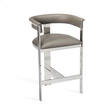 Darcy Counter Stool - Grey/ Nickel