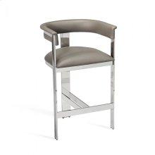 Darcy Counter Stool - Grey/ Nickel