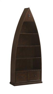 Tuscan Retreat® Boat Bookcase - Rustic Mahogany