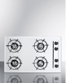 "30"" Wide Cooktop In White, With Four Burners and Battery Start Ignition; Replaces Wtl05p Product Image"