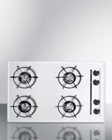 """30"""" Wide Cooktop In White, With Four Burners and Battery Start Ignition; Replaces Wtl05p"""