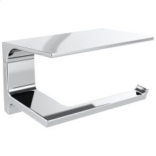 Chrome Tissue Holder with Shelf