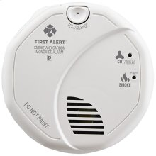 Hardwired Combination Photoelectric Smoke and Carbon Monoxide Alarm with Battery Backup