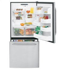 GE® ENERGY STAR® 22.3 Cu. Ft. CleanSteel Bottom-Freezer Drawer Refrigerator