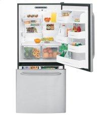 GE® ENERGY STAR® 22.3 Cu. Ft. CleanSteel Bottom-Freezer Drawer Refrigerator