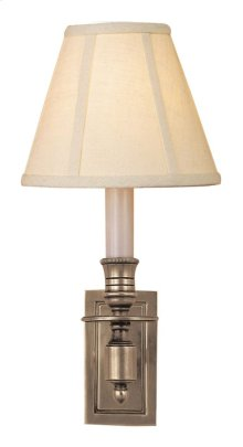 Visual Comfort S2210AN-L Studio French 1 Light 6 inch Antique Nickel Decorative Wall Light in Linen
