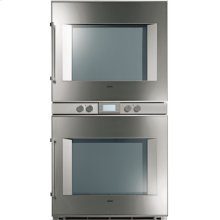 """200 series double oven BX 280 611 Stainless steel-backed full glass door Width 30"""" (76 cm) Right-hinged"""