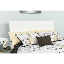 Lennox Tufted Upholstered King Size Headboard in White Vinyl