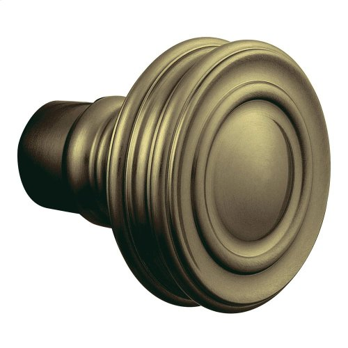 Satin Brass and Black 5066 Estate Knob