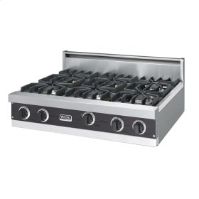 "Graphite Gray 36"" Sealed Burner Rangetop - VGRT (36"" wide, six burners)"