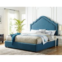 "Ensley King Headboard Navy 80""x62""x4"""