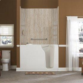 Gelcoat Premium Series 30x52-inch Walk-In Bathtub Combination  American Standard - Linen
