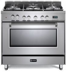 "Stainless Steel 36"" Dual Fuel Single Oven Range - Prestige Series"