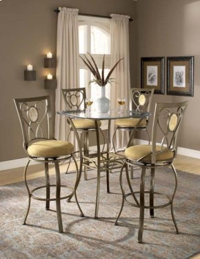Brookside 5pc Bistro Set W/ Oval Back Barstools