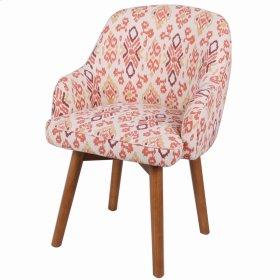 Terry Fabric Swivel Chair Amber Legs, Sundried Ikat