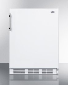 ADA Compliant Built-in Undercounter All-refrigerator for Residential Use, Auto Defrost With Deluxe Interior and White Exterior Finish