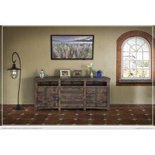 "80"" TV Stand w/2 Doors, 2 Drawer & 3 shelves"