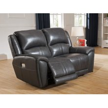 Power Reclining Love Seat in Jackson Cadet-Gray