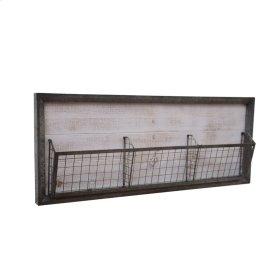 Metal Wall Basket, Gray