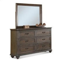 Belmeade Landscape Mirror Old World Oak finish